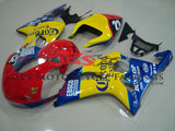 Suzuki GSXR1000 (2000-2002) Red, Yellow & Blue Corona Race Fairings