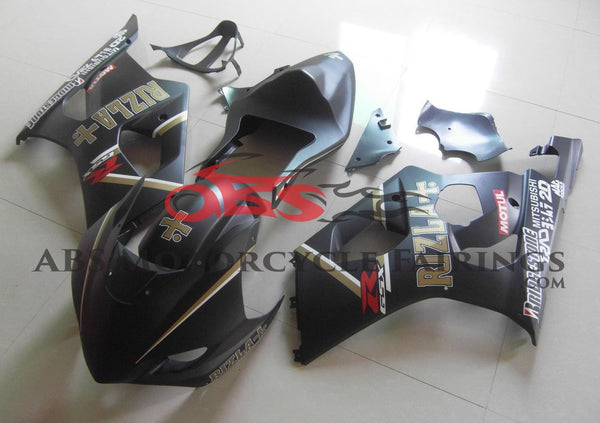 Matte Black Rizla Race Fairing Kit for a 2003 & 2004 Suzuki GSX-R1000 motorcycle