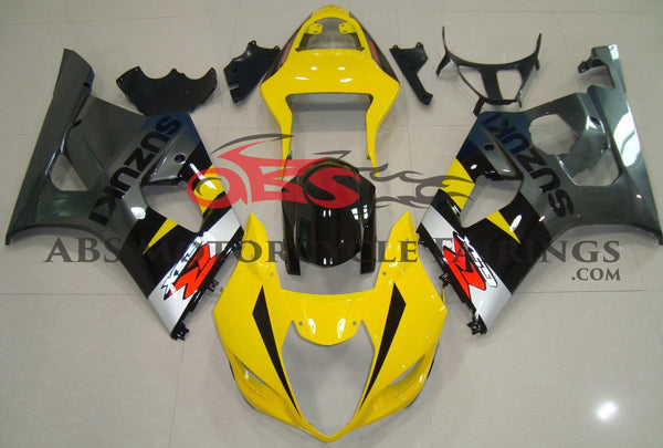 Suzuki GSXR1000 (2003-2004) Yellow, Black & Gray Fairings