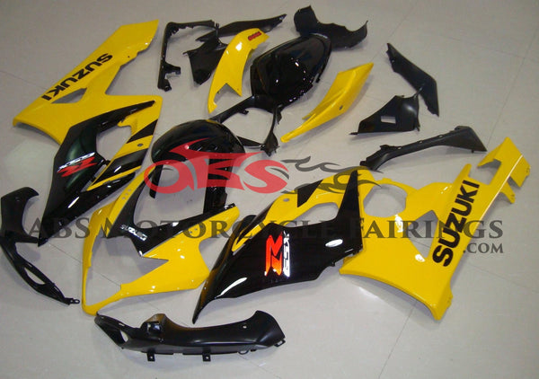 Yellow and Black Fairing Kit for a 2005 & 2006 Suzuki GSX-R1000 motorcycle