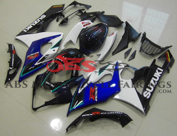Blue, White and Black Fairing Kit for a 2005 & 2006 Suzuki GSX-R1000 motorcycle