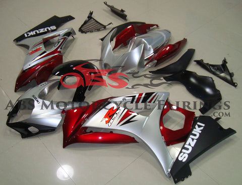 Red Black & Silver 2007-2008 Suzuki GSXR1000