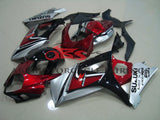 Suzuki GSXR1000 (2007-2008) Candy Apple Red, Silver & Black Fairings