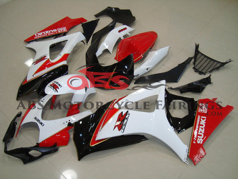 V-twin Red Black & White 2007-2008 Suzuki GSXR1000