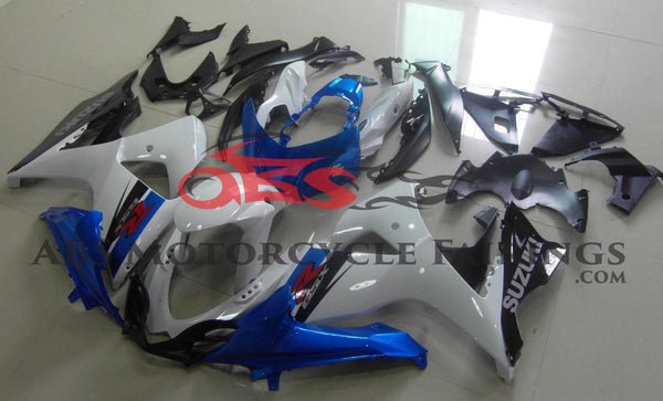 Suzuki GSXR1000 (2009-2016) White, Blue & Black Fairings