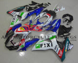 Suzuki GSXR1000 (2009-2014) White & Blue Fixi Fairings