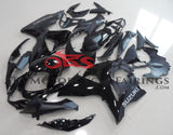Gloss Black and Matte Black Fairing Kit for a 2009, 2010, 2011, 2012, 2013 & 2014 Suzuki GSX-R1000 motorcycle