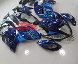 Navy Blue and Light Blue Fairing Kit for a 2008, 2009, 2010, 2011, 2012, 2013, 2014, 2015, 2016, 2017, 2018 & 2019 Suzuki GSX-R1300 Hayabusa motorcycle