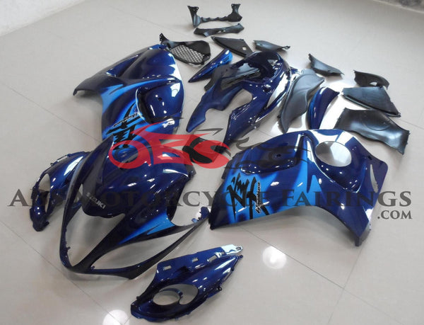 Suzuki GSXR1300 Hayabusa (2008-2019) Navy Blue & Light Blue Fairings