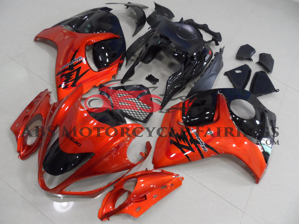Orange and Black Fairing Kit for a 2008, 2009, 2010, 2011, 2012, 2013, 2014, 2015, 2016, 2017, 2018 & 2019 Suzuki GSX-R1300 Hayabusa motorcycle