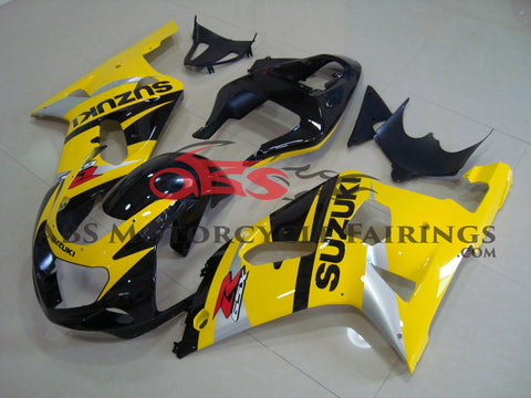 SUZUKI GSXR750 (2000-2003) YELLOW, BLACK & SILVER FAIRINGS