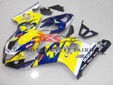 Yellow and Blue Corona Fairing Kit for a 2004 & 2005 Suzuki GSX-R750 motorcycle
