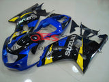Blue, Black and Yellow Fairing Kit for a 2000, 2001, 2002 & 2003 Suzuki GSX-R600 motorcycle
