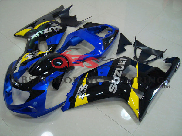 Suzuki GSXR600 (2000-2003) Blue, Black & Yellow Fairings