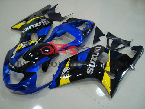SUZUKI GSXR750 (2000-2003) BLUE, BLACK & YELLOW FAIRINGS