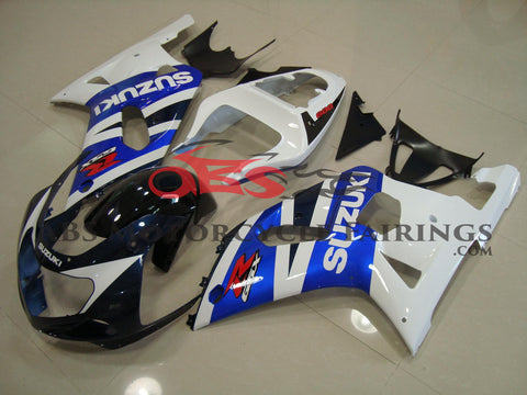 Suzuki GSXR750 (2000-2003) Dark Blue, White, Black & Blue Fairings