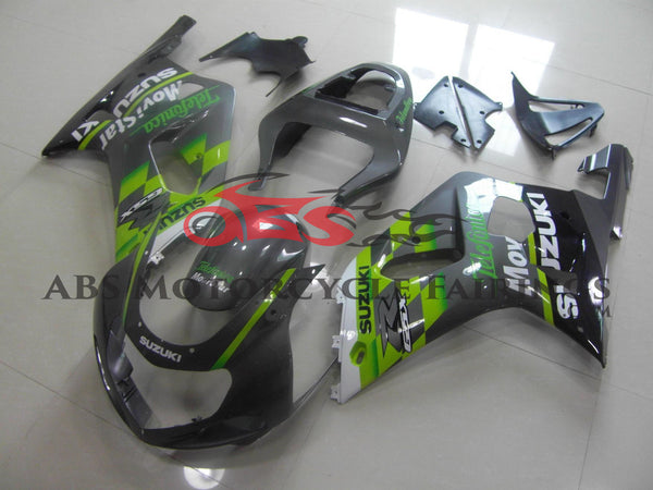 Suzuki GSXR600 (2000-2003) Gray & Green Telefonica Fairings