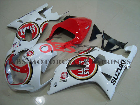 SUZUKI GSXR750 (2000-2003) WHITE & RED LUCKY STRIKE SINGLE SEAT FAIRINGS