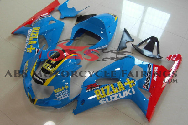 Suzuki GSXR600 (2000-2003) Light Blue Rizla Fairings
