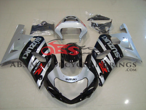 SUZUKI GSXR750 (2000-2003) SILVER & BLACK FAIRINGS