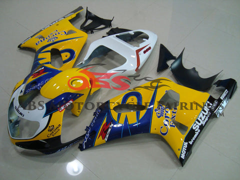 SUZUKI GSXR750 (2000-2003) YELLOW, BLUE & WHITE CORONA FAIRINGS