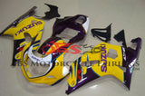 Yellow, Purple and White Fairing Kit for a 2000, 2001, 2002 & 2003 Suzuki GSX-R600 motorcycle