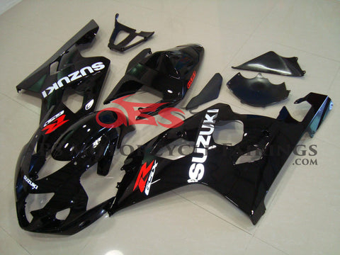 Black & White Decals 2004-2005 Suzuki GSXR600