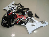 Black and White Fairing Kit for a 2004 & 2005 Suzuki GSX-R750 motorcycle