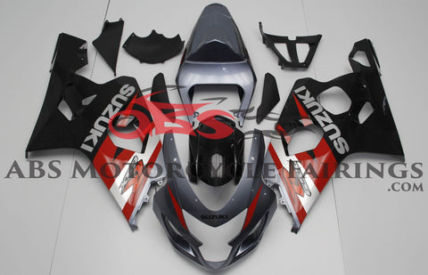 Grey Black & Red 2004-2005 Suzuki GSXR600