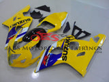 Suzuki GSXR600 (2004-2005) Yellow, Blue & White Fairings