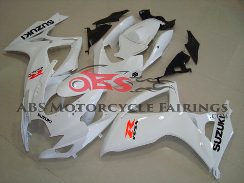 All White 2006-2007 Suzuki GSXR600