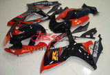 Black and Orange Fairing Kit for a 2006 & 2007 Suzuki GSX-R750 motorcycle