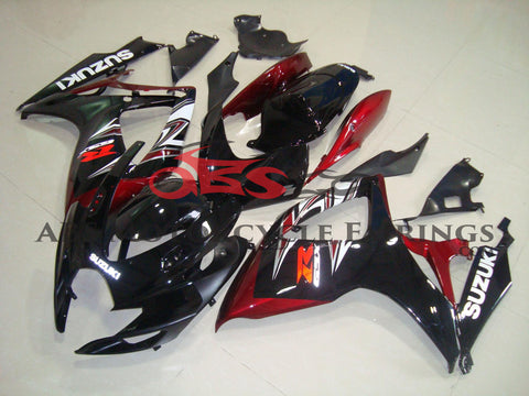 Black & Red 2006-2007 Suzuki GSXR750