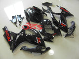 Suzuki GSXR750 (2006-2007) Black Fairings with Red Stickers