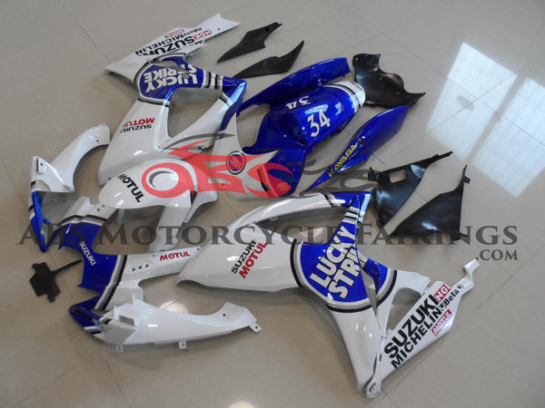 Suzuki GSXR750 (2006-2007) White & Blue Lucky Strike Fairings