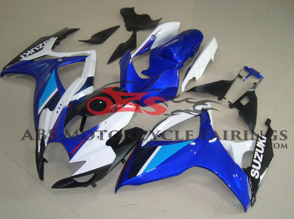 Blue, White and Black Fairing Kit for a 2006 & 2007 Suzuki GSX-R750 motorcycle