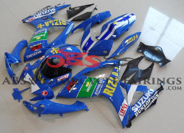 Blue Rizla Fairing Kit for a 2006 & 2007 Suzuki GSX-R600 motorcycle
