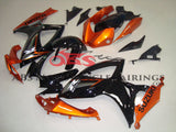 Black, Orange and Gray Fairing Kit for a 2006 & 2007 Suzuki GSX-R600 motorcycle