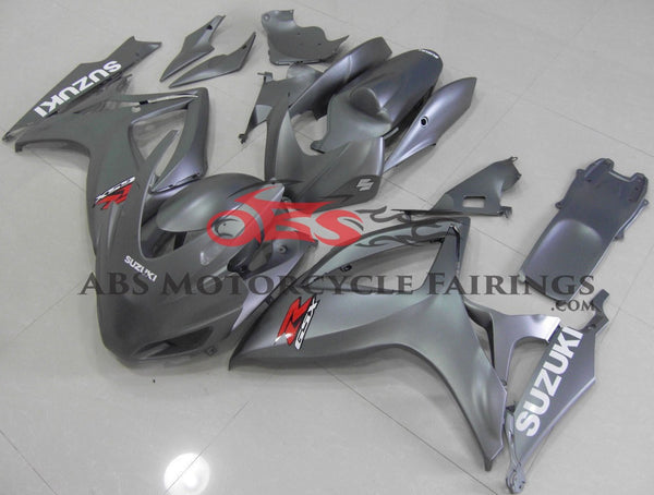 Silver Race Fairing Kit for a 2006 & 2007 Suzuki GSX-R600 motorcycle