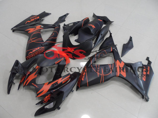 Suzuki GSXR750 (2006-2007) Matte Black & Matte Red Fairings