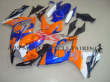 Orange and Blue Corona Fairing Kit for a 2006 & 2007 Suzuki GSX-R600 motorcycle