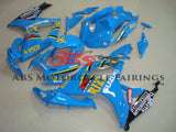 Light Blue Rizla Fairing Kit for a 2006 & 2007 Suzuki GSX-R750 motorcycle.