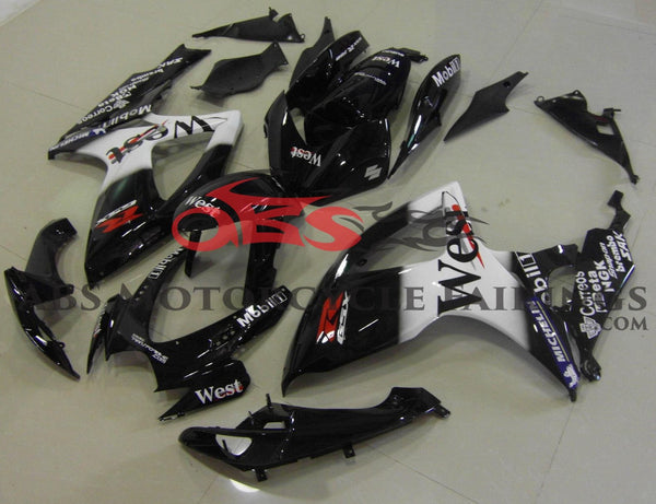 West Black 2006-2007 Suzuki GSXR600