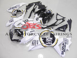 Suzuki GSXR750 (2008-2010) White & Black Lucky Strike Fairings