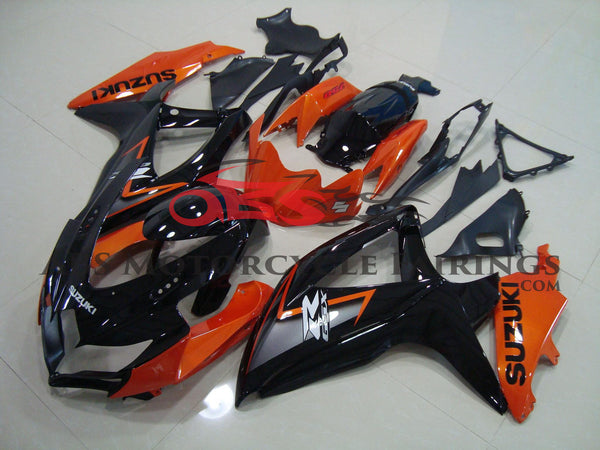 Black & Orange 2008-2010 Suzuki GSXR600