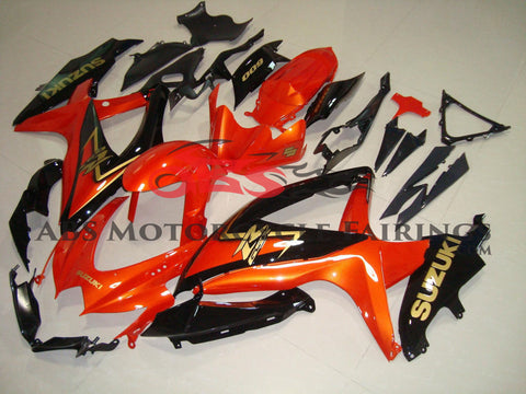 Orange & Black 2008-2010 Suzuki GSXR750