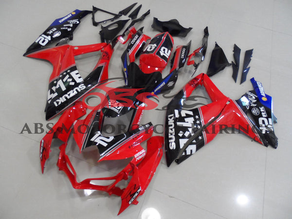 Suzuki GSXR600 (2008-2010) Red, Black and Blue Fairings