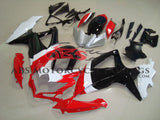 Red, Black, White and Silver Fairing Kit for a 2008, 2009, & 2010 Suzuki GSX-R600 motorcycle