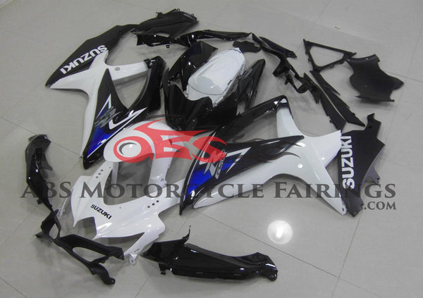 Suzuki GSXR750 (2008-2010) White, Black & Blue Fairings