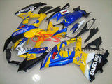 Yellow and Blue Corona Fairing Kit for a 2008, 2009, & 2010 Suzuki GSX-R600 motorcycle
